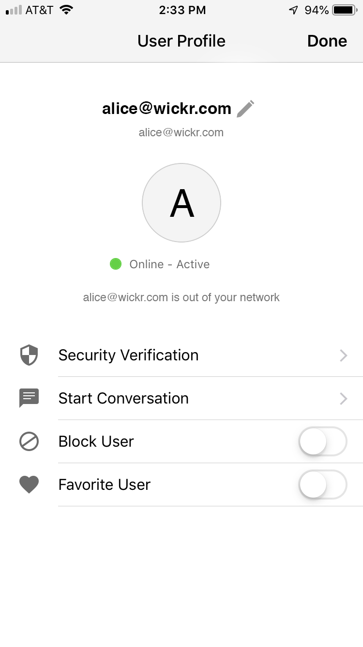 Security Verification – Wickr Inc
